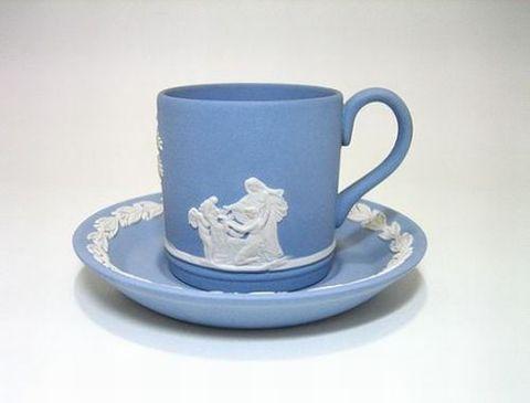 ウェッジウッド 【ジャスパー完全英国製】 コーヒーC/S・ローレル 30%Off