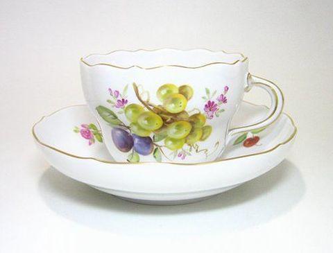 マイセン 【果物模様】  白葡萄とプルーン 20%Off