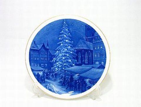 マイセン・1996年復刻イヤープレート「1956年・マイセン市のクリスマス市場」30%Off