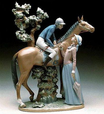 リヤドロ・真正ロゴ 【フィギュリン5036ブランド箱】 乗馬クラブの恋人たち  幅36cm×高さ46cm 20%Off