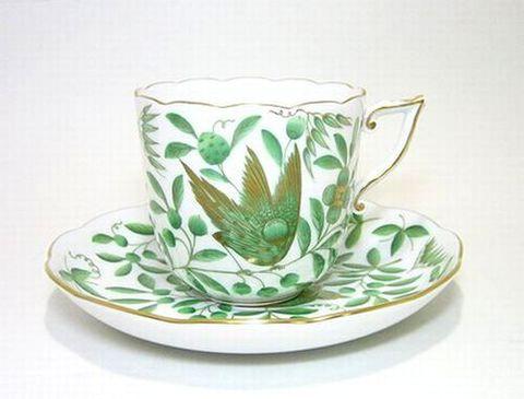 ヘレンド  【緑の楽園・金彩ZOVA】  コーヒーC/S 20706   25%Off