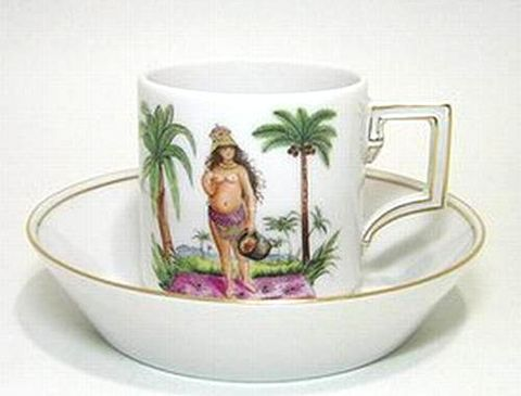 マイセン 【2006年世界限定洋食器】 作マイスター アフリカン魅惑美女 コーヒーC/S 30%Off