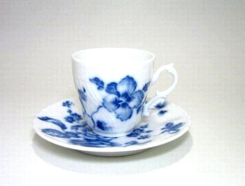 リチャードジノリ 【ローズブルー 】 コーヒーC/S 125cc 11%Off