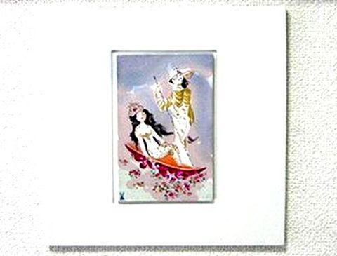 マイセン 【アラビアンナイト ゴンドラに乗る王様と王妃様】  磁板画 H26xW26cm 20%Off