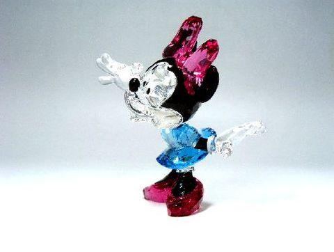 スワロフスキー 【シルバークリスタル・ディズニー】 ミニーマウス H10.5cm 15%Off