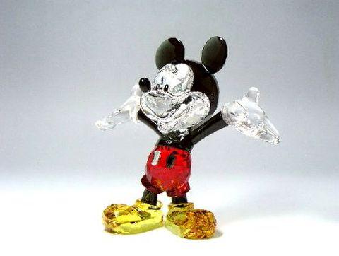 スワロフスキー 【シルバークリスタル・ディズニー】 ミッキーマウス H10.5cm 15%Off