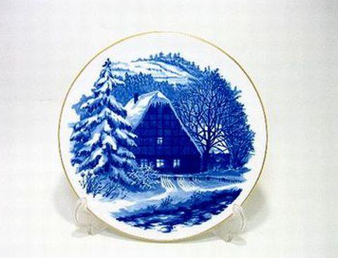 マイセン・1996年復刻イヤープレート 1963・谷間の村のクリスマス 30%Off