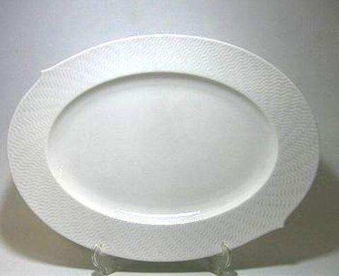 マイセン・波の戯れホワイト・000000 35cmオーバルディッシュ・29307 25%Off