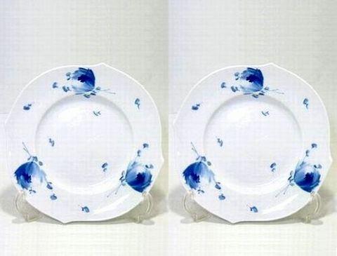 マイセン 【青い花・614701】  19cmプレート・28470 ペア  22%Off