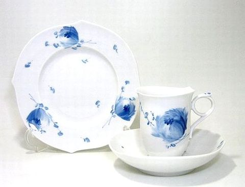マイセン 【青い花・614701】 マイタイム(コーヒーC/S+19cmプレート)セット 21%Off