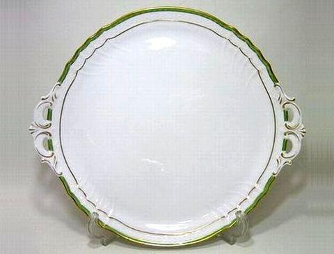 リチャードジノリ 【ベッキオジェンマ(翡翠)】  31.5cmケーキトレイ 40%Off