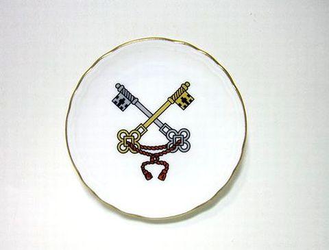 リチャードジノリ 【ジュビレオコレクション】  9cm丸小皿教皇紋章・鍵 20%Off