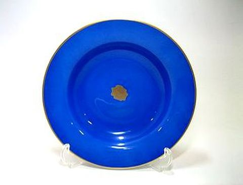 リチャードジノリ・アマデウスの唄 ブルー 21cmスーププレート  30%Off
