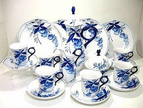 マイセン 【2000年世界限定洋食器】 アカシア染付 コーヒー23ピースセット 25%Off