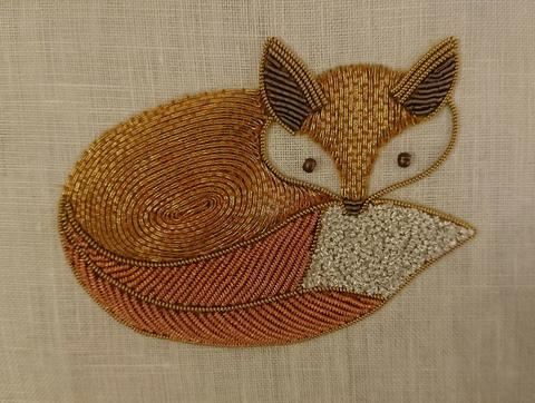 Becky Hogg goldwork kit キツネ