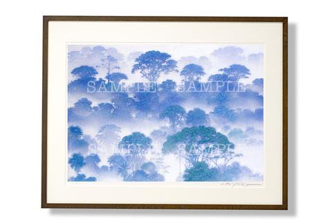 額装版画「雲霧林」Lサイズ