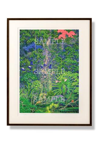 額装版画「聖剣の森」Lサイズ