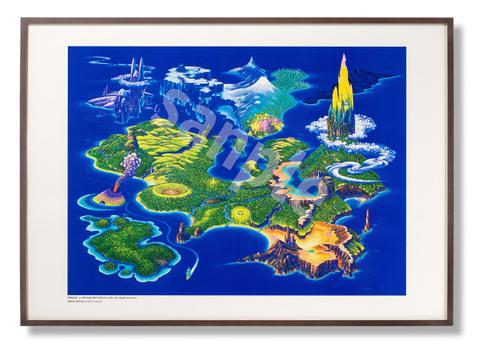 「聖剣伝説3ワールドマップ」額装ポスター(Br)