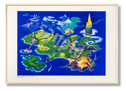 「聖剣伝説3ワールドマップ」額装ポスター(NA)