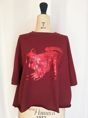 Wide short T-shirts_RED