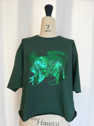 Wide short T-shirts_GREEN