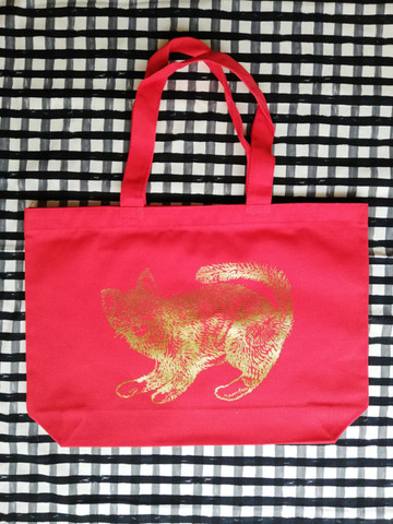 Tote bag -red-