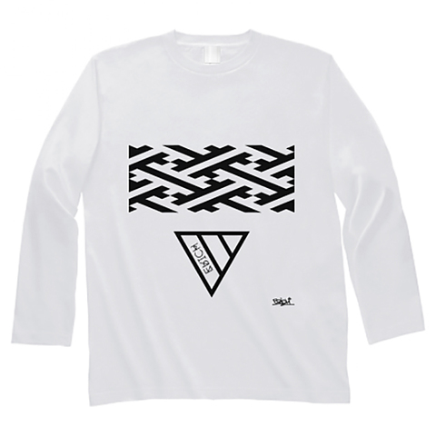 GEOMETRY TRIANGLE LONG SLEEVE T-SHIRT WHITE
