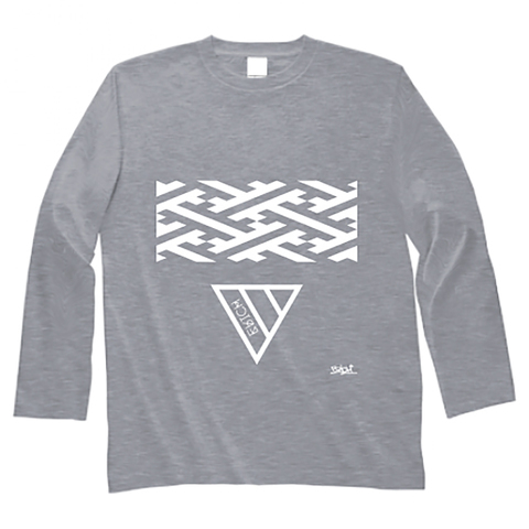 GEOMETRY TRIANGLE LONG SLEEVE T-SHIRT GRAY