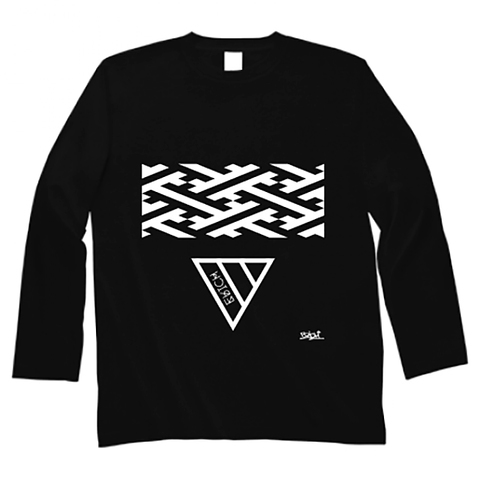 GEOMETRY TRIANGLE LONG SLEEVE T-SHIRT BLACK