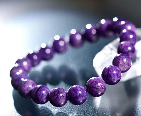 聖なるスター紫雲[チャロアイト10mm高次元ブレスレット]