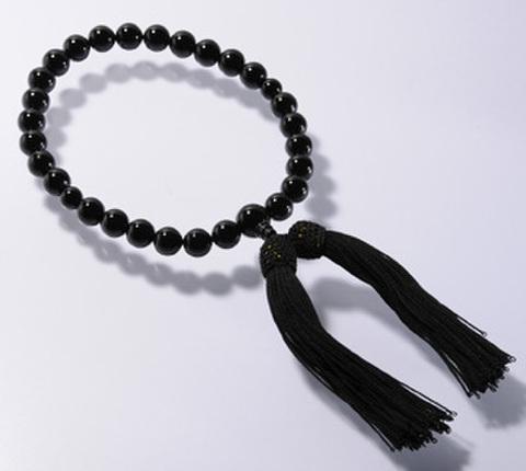 [片手念珠]ブラックオニキス