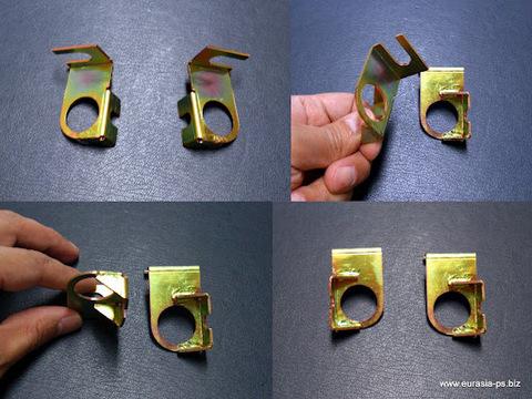 フロントブレーキホースを止める金具(セット)