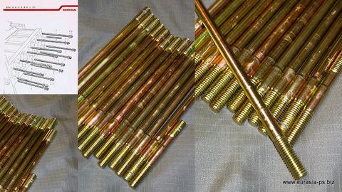 限定特価 S用 8mmスタッドボルト(スリーブヘッド間)1台分