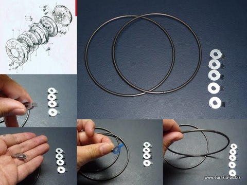 フアルコラムスプリング(ダイヤフラムの輪っか) ロックワッシャセット(C)