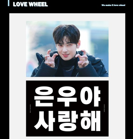 "【在庫販売】cherubic970330様 ""LOVE WHEEL"" slogan"