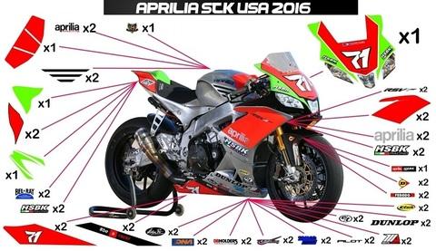 RSV4 SBK US 16 グラフィック ステッカー