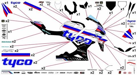 S1000RR 19-20 TYCO グラフィックステッカー