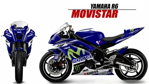YZF-R6 レースグラフィック モビスター