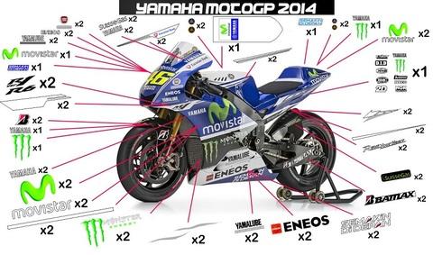 MotoGP モビスターヤマハ グラフィックステッカー