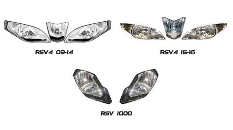 RSV4/RSV1000 ヘッドライト ステッカー