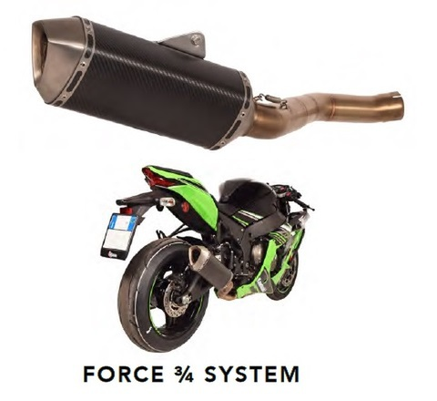 SPARK ZX10R 16-17 Force 3/4マフラー
