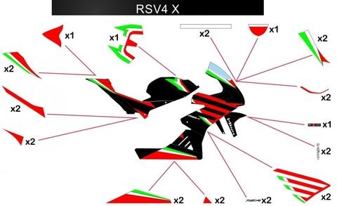 RSV4 X グラフィックステッカー