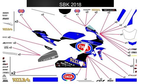 YZF-R1 MotoGP モビスターヤマハ 2018 グラフィック
