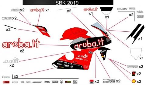 パニガーレ V4 SBK 2019 グラフィックステッカー V2