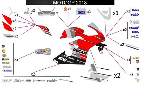 パニガーレ Motogp 2018 グラフィックステッカー