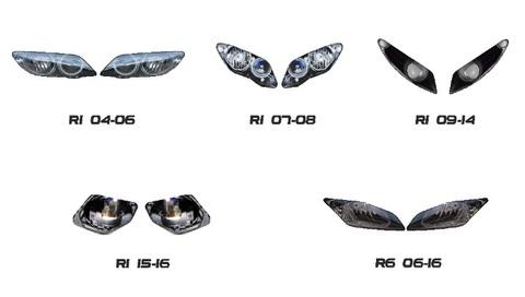 YZF-R1/YZF-R6 ヘッドライト ステッカー