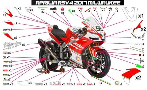 RSV4 17 SBK グラフィック ステッカー