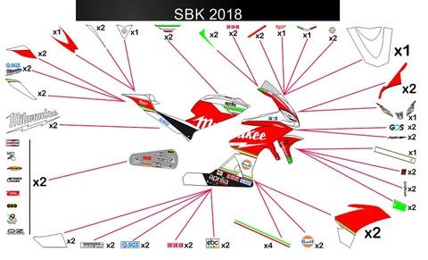 RSV4 ミルウォーキー SMR Racing SBK 2018 グラフィック