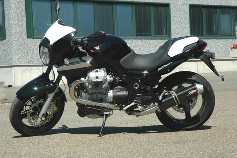 QD Exhaust Moto Guzzi Sport 1200