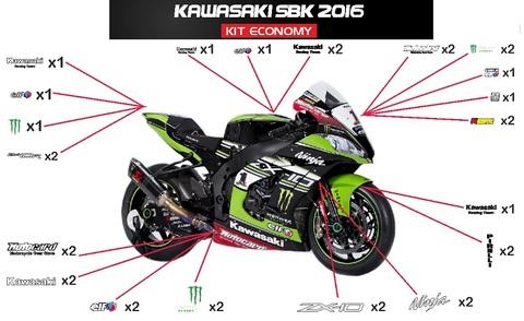 ZX10R SBK 2016 グラフィックステッカー